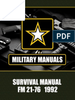 US Army Survival Manual FM 21-76 1992