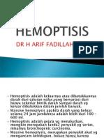 HEMOPTISIS. ppt