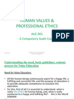 human values professional ethics