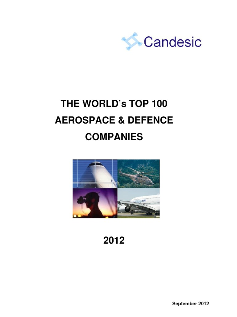 The World'S Top 100 Aerospace & Defence Companies: September