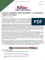 a Elezioni Presidente della Repubblica – Al Quirinale il cognato di Fassina - Mauro Barberis - Il Fatto Quotidiano