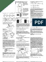 Physics Summary Sheets