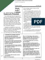 13 Question About Teamwork