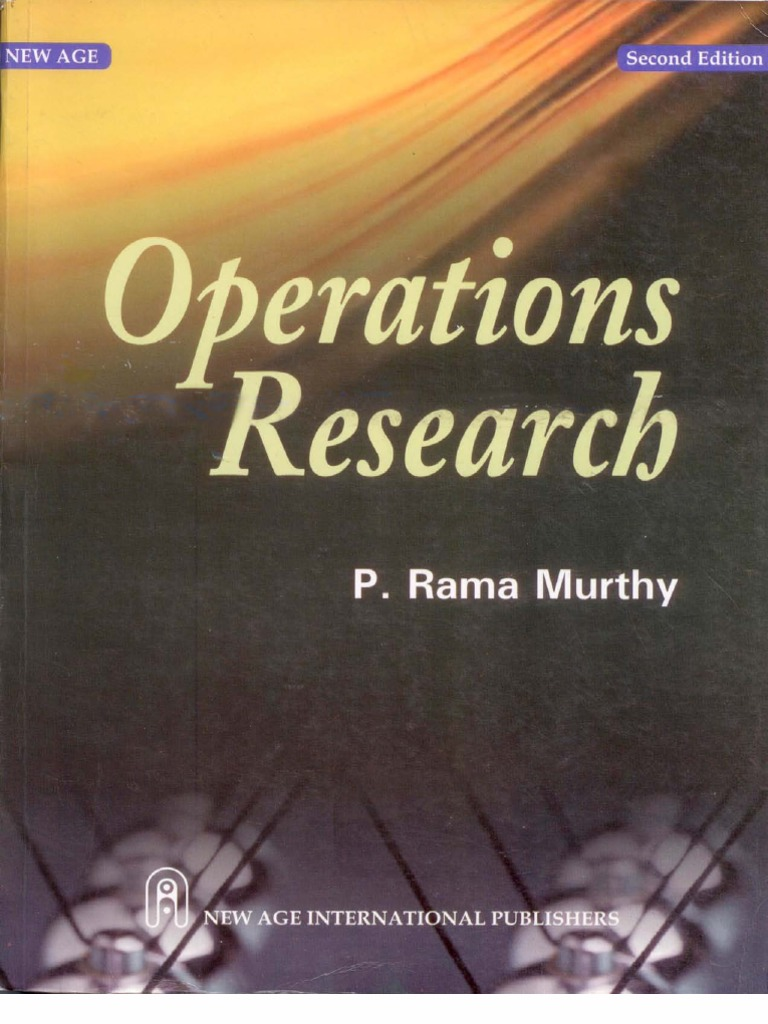 Operation Research Operations Research