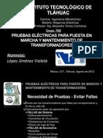 Pruebas Eléctricas para puesta en marcha y manteniemiento de transformadores