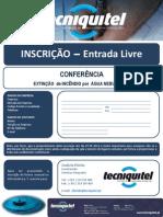 INSCRIÇÃO - Conferência Tecniquitel - EXTINÇÃO DE INCÊNDIO POR ÁGUA NEBULIZADA A ALTA PRESSÃO