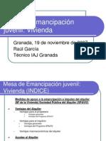 Mesa de Emancipación juvenil19112007Raul Garcia.ppt