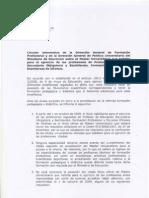 Circular Direccion General de Educacion