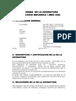 Programa de Tecnologia Mecanica MEC 242 SF