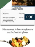 Seminário Farmacologia - Adrenérgicos e Antiadrenérgicos (1)