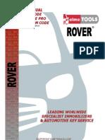 Manual inmovilizadores land Rover