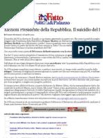 A Elezioni Presidente Della Repubblica. Il Suicidio Del Pd - Tomaso Montanari - Il Fatto Quotidiano