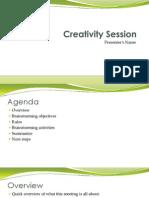 Business Brainstorming Presentation