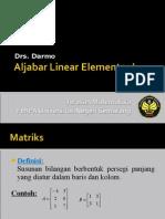 Aljabar Linear Elementer I1