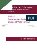 Baromètre de l'Offre légale - Hadopi