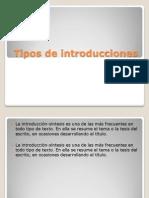 Tipos de Introducciones[1]