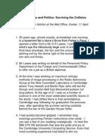 Collision Speech by John Ashton to the UK Met Office April 2013