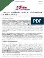 a Colle, gli 11 presidenti – Pertini, al Colle il socialista che sapeva resistere - Il Fatto Quotidiano