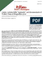 """a Dante, l'artista delle """"mutande"""", nel documentario di Walter Ciusa al Biografilm 2012 - Il Fatto Quotidiano"""