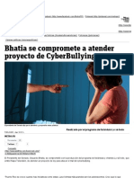 Bhatia se compromete a atender proyecto de CyberBullying – Metro