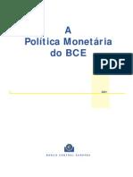 BCE- Política Monetária do BCE