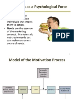 Motivation - a part of consumer behavior