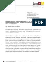 Einladung zur Der europäische Unternehmensförderpreis 2013