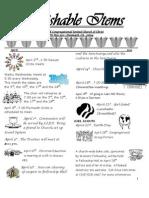 Parishable Items April 2013
