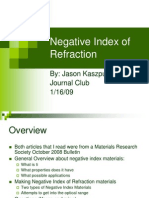 Negative Index of Refraction Draft 1