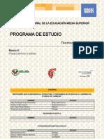 Programa de estudio del Módulo III