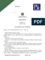 Legea Pentru Modificarea Unor Acte Legislative