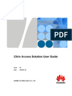 Citrix Access Solution User Guide