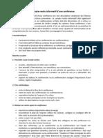 Compte Rendu Informatif Conference