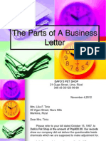 The Parts of a Business Letter