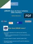 Jorum Open Archives Initiative (OAI) Interface
