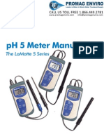 LaMotte 5-0034 pH Meter pH5 Plus Handheld Manual