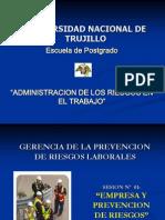 SESION Nº 01. EMPRESA Y PREVENCION DE RIESGOS