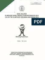 Soal OSK Kebumian 2013