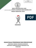 Solusi Kebumian OSN 2013 Kab Kota