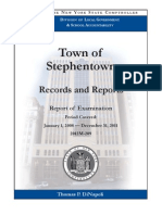 Stephentown Audit by NYS Comptroller