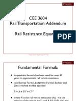 Rail Resistance