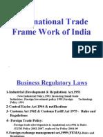 14 Intl Trade Frame Work of India