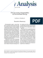 The Increasing Sustainability of Conventional Energy, Cato Policy Analysis No. 341