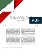 Social Security Reform Proposals