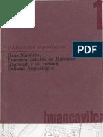 Guayaquil y su variante cultural arqueológica. Hans Marotzke y Francisca Laborde de Marotzke, Guayaquil, 1970.