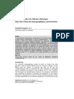 Le rôle du cadre de référence théorique dans une recherche monographique constructiviste. Danielle Paquette