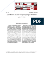 "East Timor and the ""Slippery Slope"" Problem, Cato Foreign Policy Briefing No. 55"