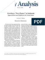 "Averting a ""New Kosovo"" in Indonesia"