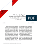 """We Own the Night:"" Amadou Diallo's Deadly Encounter with New York City's Street Crimes Unit, Cato Briefing Paper No. 56"