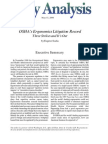 OSHA's Ergonomics Litigation Record